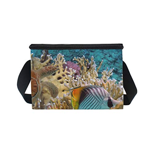 Turle Bag Shoulder Strap for Lunchbox Picnic Cooler Fishes Sea Lunch Ocean pIqZwSS