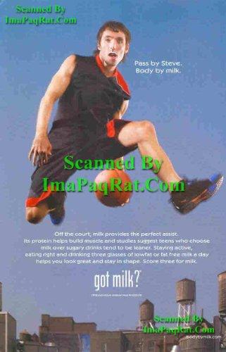 Got Milk? Pass By Steve Nash: NBA Phoenix Suns: Great Original Photo Print Ad!