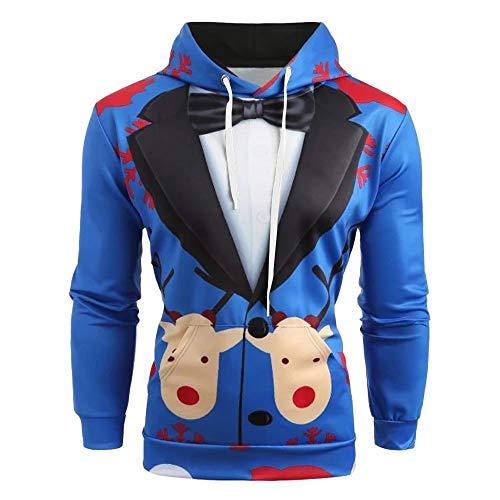 Cardigan Pullover Cappuccio uomo Felpa Da Blu Top Stampa Zolimx Vestito  buon Con 3d Lunga Regalo ... c27bee429b95