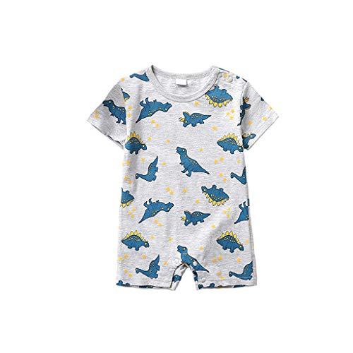 Huangou Newborn Infant Baby Boy Girl Cartoon Dinosaur Romper Jumpsuit Outfits Clothes