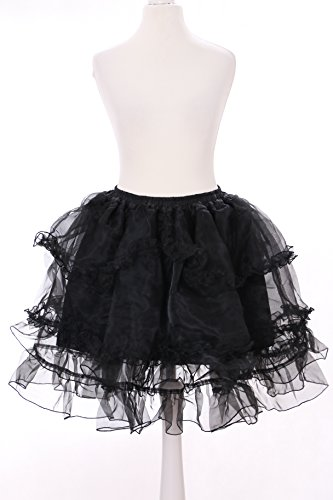 JL-652-3 schwarz Kristall Organza Petticoat Harajuku Tutu Rock Unterock Pastel Goth Punk Lolita
