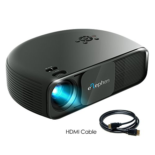 ELEPHAS 1080P HD LED Movie Projector, with 3500 Luminous Efficiency LCD Video Projector Support HDMI USB VGA Amazon Fire TV...