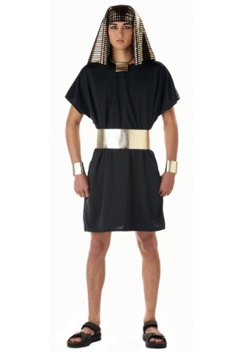 [California Costumes Men's Pharaoh Costume, Black, Small] (Adult Egyptian Prince Costumes)