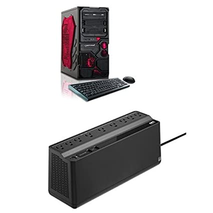 Amazon com: CybertronPC Borg-Q Gaming Desktop (Red) with an