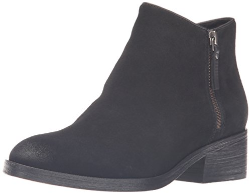 Cole Haan Women's Hayes Flat Ankle Bootie, Black Suede, 11 B US by Cole Haan