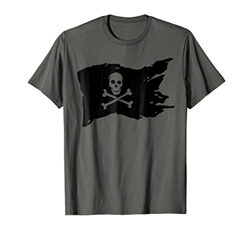 Skull Pirate Flag T-shirt jolly roger Crossbones Tee