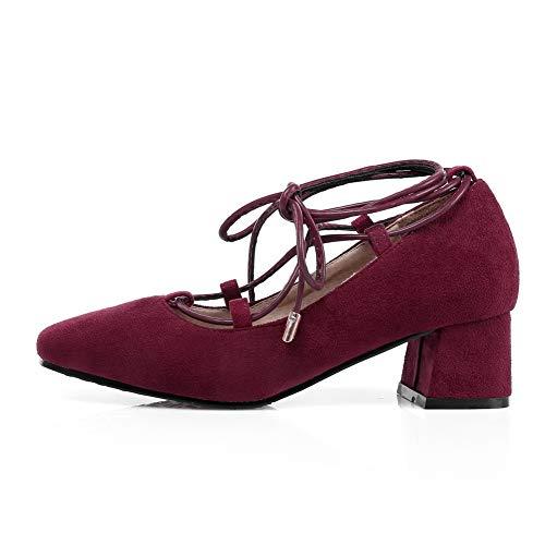 5 Sandales Rouge 36 Red Femme Compensées AdeeSu EU SDC05712 aPUq0xz
