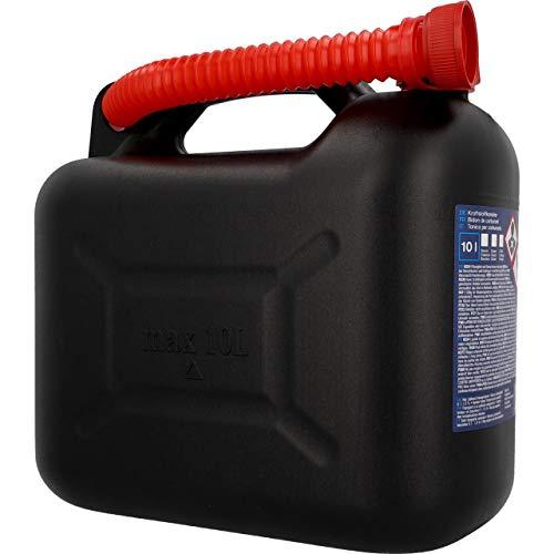 Cartrend Jerrycan met schenktuit en VN-goedkeuring, voor alle brandstofsoorten, 10 liter