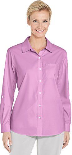 Coolibar UPF 50+ Women's Sun Shirt - Sun Protective (Medium- -
