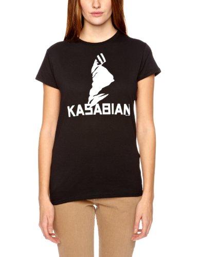 Kasabian Women's Ultra Skinny Short Sleeve T-shirt, Black, Size 14 -