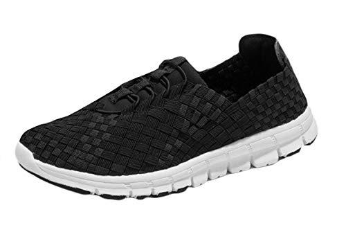 Slip Sandali Estivi Atletica Studio Leggera Sneaker Scarpe Traspirante Da Sk Eleganti Woven Sportivi Donna On Accogliente Nero xwYRInUq