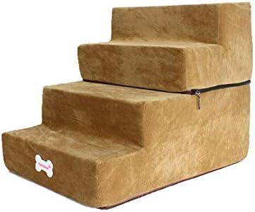 juman634 Desmontables de Superficies Suaves Escaleras/Pasos para Perros y Gatos, Ligera/portátil/Lavable, Perrito de Peluche Sofá Cama Escala para Subir Mascotas, de 4 Niveles: Amazon.es: Hogar