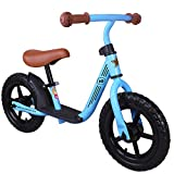 JOYSTAR 10/12 Inch Kids Balance Bike with Footrest for 1-5 Years Girls & Boys, Toddler Push Bike, (Blue, Green, Pink, Red)