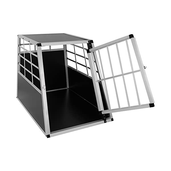 EUGAD Car Dog Cage Puppy Travel Carrier Kennel Pet Crate Transport Box Aluminum 3