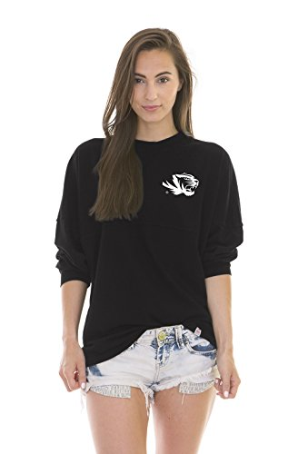NCAA Missouri Tigers Women's Jade Long Sleeve Football Jersey, Black, Small ()