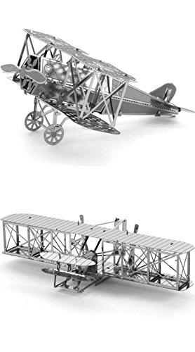 Tenyo 2 Metallic Nano Puzzle Bundle - Famous Planes - Fok...