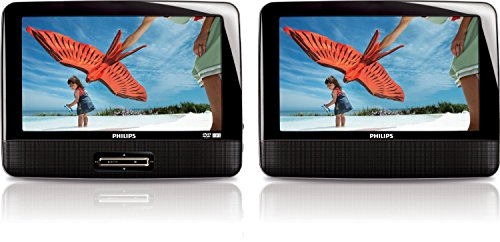 Philips PD901237 - 9-inch LCD Dual Screen Portable DVD Player - Black (Certified Refurbished)