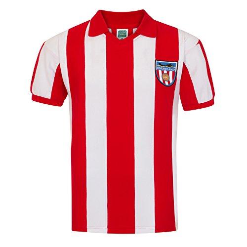 Sunderland AFC Official Soccer Gift Mens 1978 Retro Home Kit Shirt Medium -