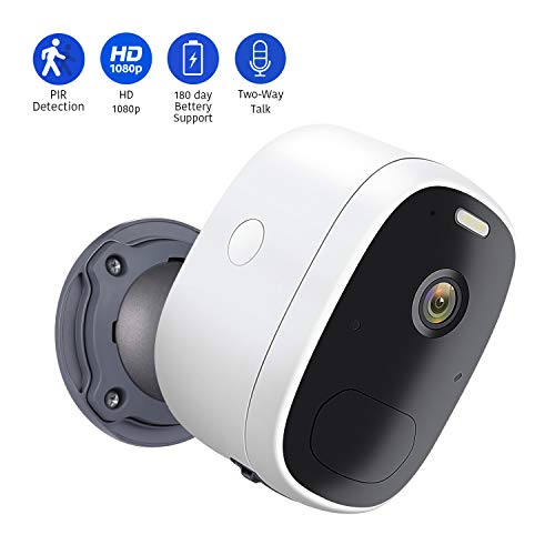 🥇 AIHOWS Battery Powered 1080p Wireless Security Camera with 2 Way Audio and 6500K Spotlight