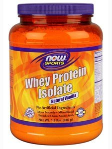 Now Foods Whey Protein Isolate Vanilla - 1.8 lb 6 Pack