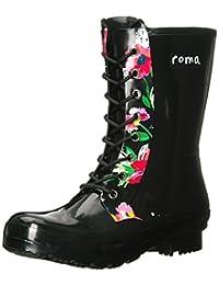 Roma Boots EPAGA Botas de Lluvia Cortas con Cordones para Mujer