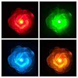 LED Light up Flower Clip for Hair - Rose - Glow in the Dark Party Favor, LED Hair Hairpin, Flashing LED Light-up Toys, Barrettes for Party, Bar Dancing Clip, Light up Hair Accessories