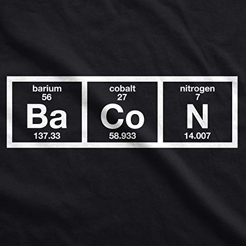 Uomo The Mens T Brunch Chemistry Dog Nero Of Periodic Bacon Shirt Tshirts Table Crazy Tee Divertente Science Funny Maglietta w0xaW1x