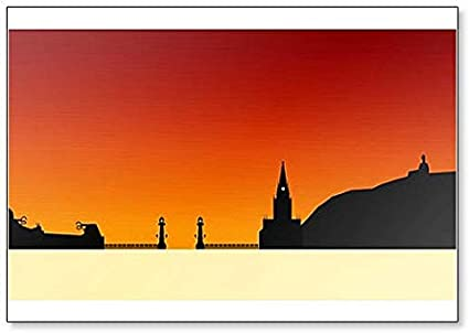 Imán para nevera de San Sebastian Skyline, Donosti en España: Amazon.es: Hogar