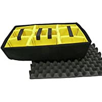 Pelican yellow padded divider set & Lid foam to fit Pelican 1510.