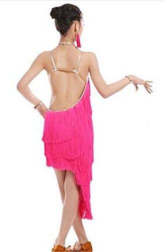 shining danse de dance de 170cm show dance professionnelle danse latine long dance Robe pink dance show show 4THAvqgxxw