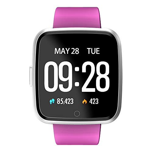Harpi 2018 Bluetooth Smart Watch with Color Screen Heart Rate Pedometer,Y7 Smart Watch for Android iOS (Purple)