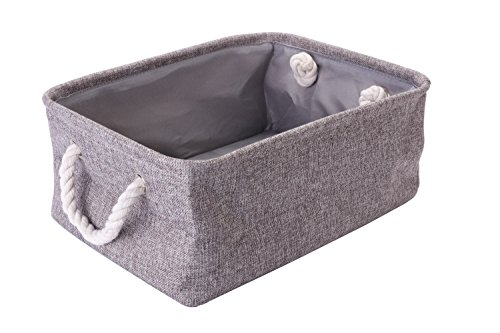 Collapsible Storage Bin Basket with Handles for Organizing Baby Toys, Kids Toys, Baby Clothing, Gift Baskets – Foldable Canvas Fabric Storage Cube Bin