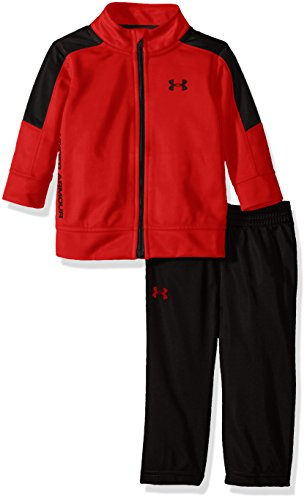 Price comparison product image Under Armour Baby' Zip Jacket and Pant Set, Red, 6-9M