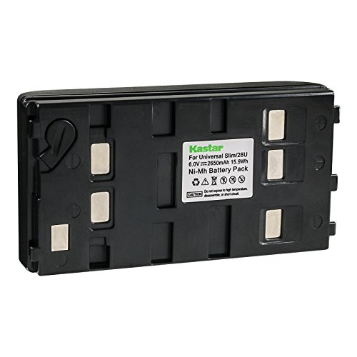 Kastar 2650mA, 6V Replacement NiMH Battery for JVC BN-V11U BN-V20U BN-V25U, Panasonic HHR-V20A HHR-V40A VW-VBS1 VW-VBS2 and Sony NP-55H NP-77H NP-98 Batteries - Nickel Metal Hydride Camcorder Battery