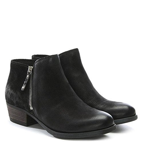 Cuir Pelle in besti Leather Noir en Bottines Black Moda FP1wq