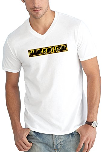 Gaming is not a Crime V-Neck White Certified Freak