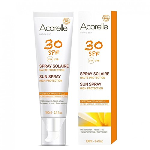 ACORELLE - Sunscreen Spray SPF 30 - Waterproof - Without chemical filters & zinc - Without nanoparticles ()