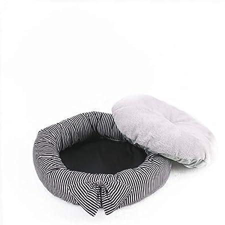 LAAT Cama de Mascotas con Arco Lujo y Suave Confort de Cama para Perro y Gato Size 45CM (Rayas Marron): Amazon.es: Productos para mascotas