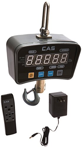 High Capacity Crane Scale - CAS IE-500C IE Series Economy Crane Scale with LCD Display, 500lbs Capacity, 0.2lbs Readability