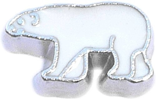 White Polar Bear Floating Locket ()