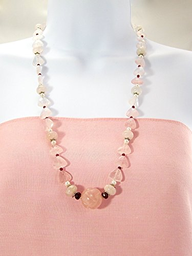 Rose quartz garnet necklace (Garnet Rose Quartz Necklace)