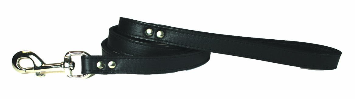 OmniPet 6075-BK Signature Leather Dog Leash, Black