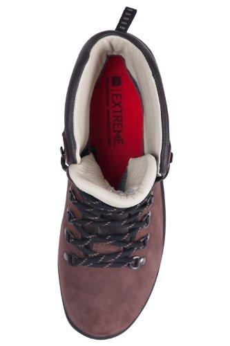 Mountain Warehouse Excalibur Wasserfeste Stiefel Für Herren - Atmungsaktiv, Obermaterial Leder, Wanderstiefel mit Vibram-Sohle, Antibakteriell - Für Reisen und Wandern Braun