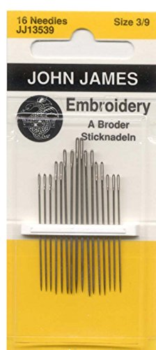 John James Embroidery Crewel Needles Package of 16 John James Easy Threading Needles
