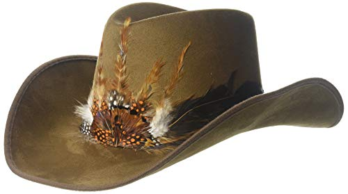 Deluxe Feather Cowboy Hat, One