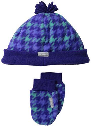 Columbia Baby Girls' Frosty Fleece Hat and Mitten Set, Hyper Purple, One Size