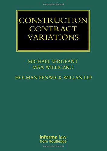 Construction Contract Variations (Construction Practice Series) (Variations Contract Construction)