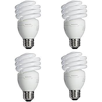 Philips 433557 100 Watt Equivalent, Bright White (6500K) 23 Watt Spiral CFL