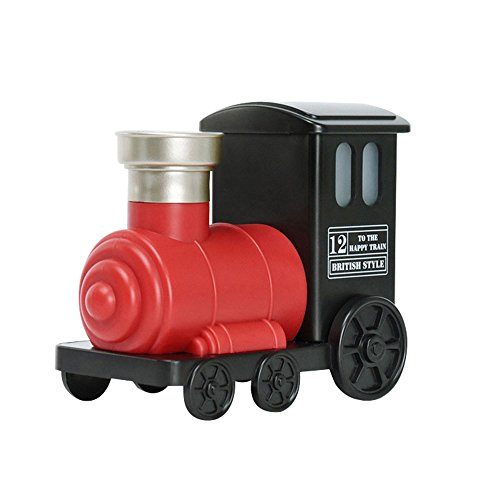FUMAK Mini Train Toy Air Humidifier USB Ultrasonic Air Humidifier Aroma Essential Oil Diffuser Mist Maker for Home Office Kids Bedroom (red)