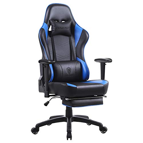 Dowinx Gaming Chair Ergonomic Office Recliner for Computer with Massage Lumbar Support, Racing Style Armchair PU Leather…